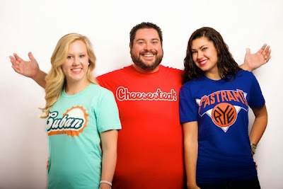 Sandwich City T-Shirt Series by Deli Fresh Threads - Cuban, Cheesesteak & Pastrami on Rye
