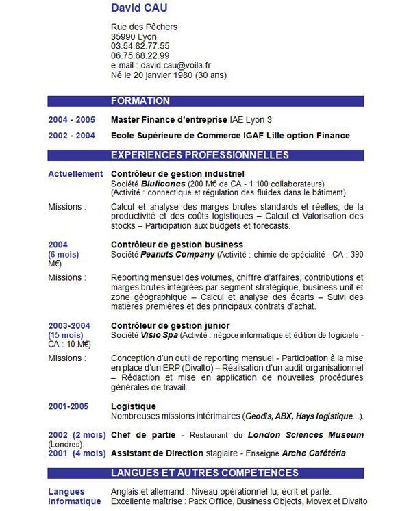 resume format  telecharger formulaire de cv gratuit