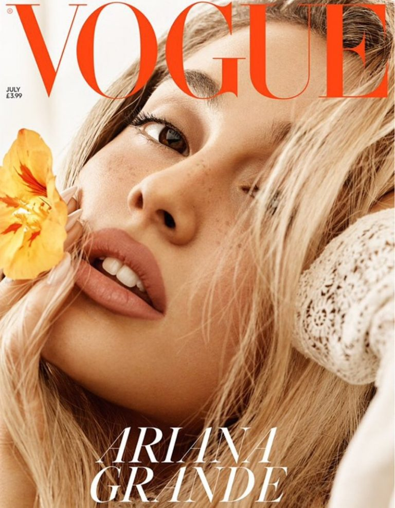 Singer Ariana Grande on Vogue UK July 2018 Cover