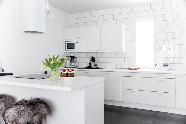 puustelli, valkoinen keittiö, sisustusinspiraatio