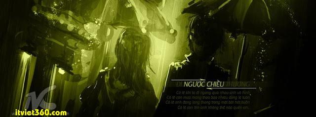 Ảnh bìa cho Facebook mưa | Cover FB timeline rain, tình yêu buồn
