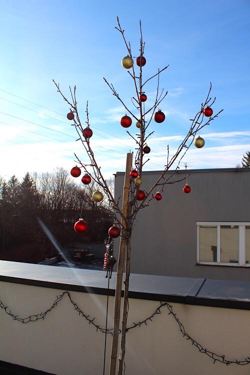 weihnachtlicher Obstbaum