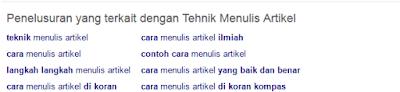 Menjadi seorang blogger memang harus dituntut arif menulis dan merangkai kata Tehnik Menulis Artikel di Blog yang Benar