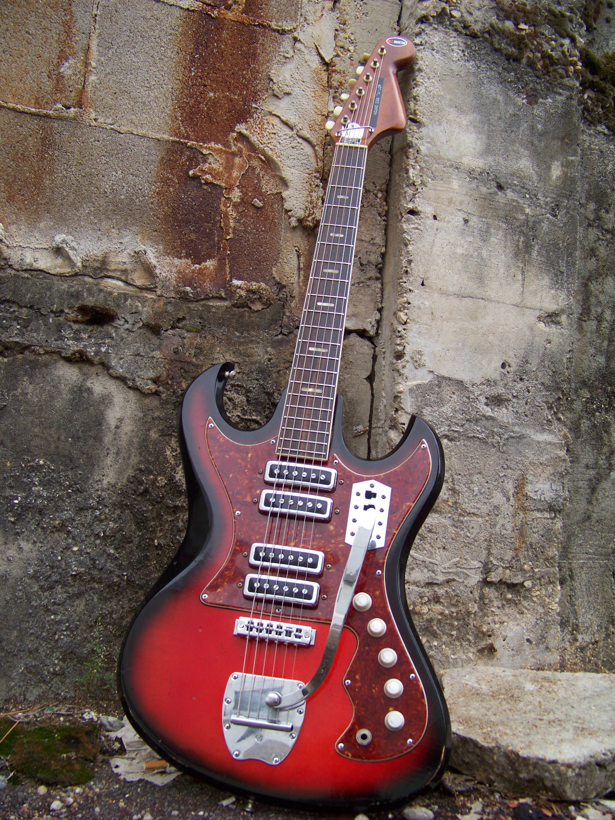 the genuine hound dog taylor kawai teisco electric guitar [ 1200 x 1600 Pixel ]