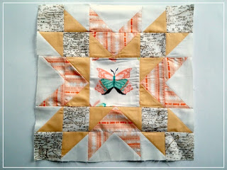 Puppilalla, Double Star Block, Quilting Bee, Blossom Heart Quilt Exchange