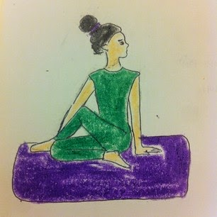 W-Danceyoga: Yoga for detox- Half spinal twist