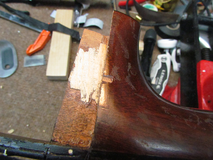 Shimming Guitar Neck Dovetail And Finish Chip Repair 1931
