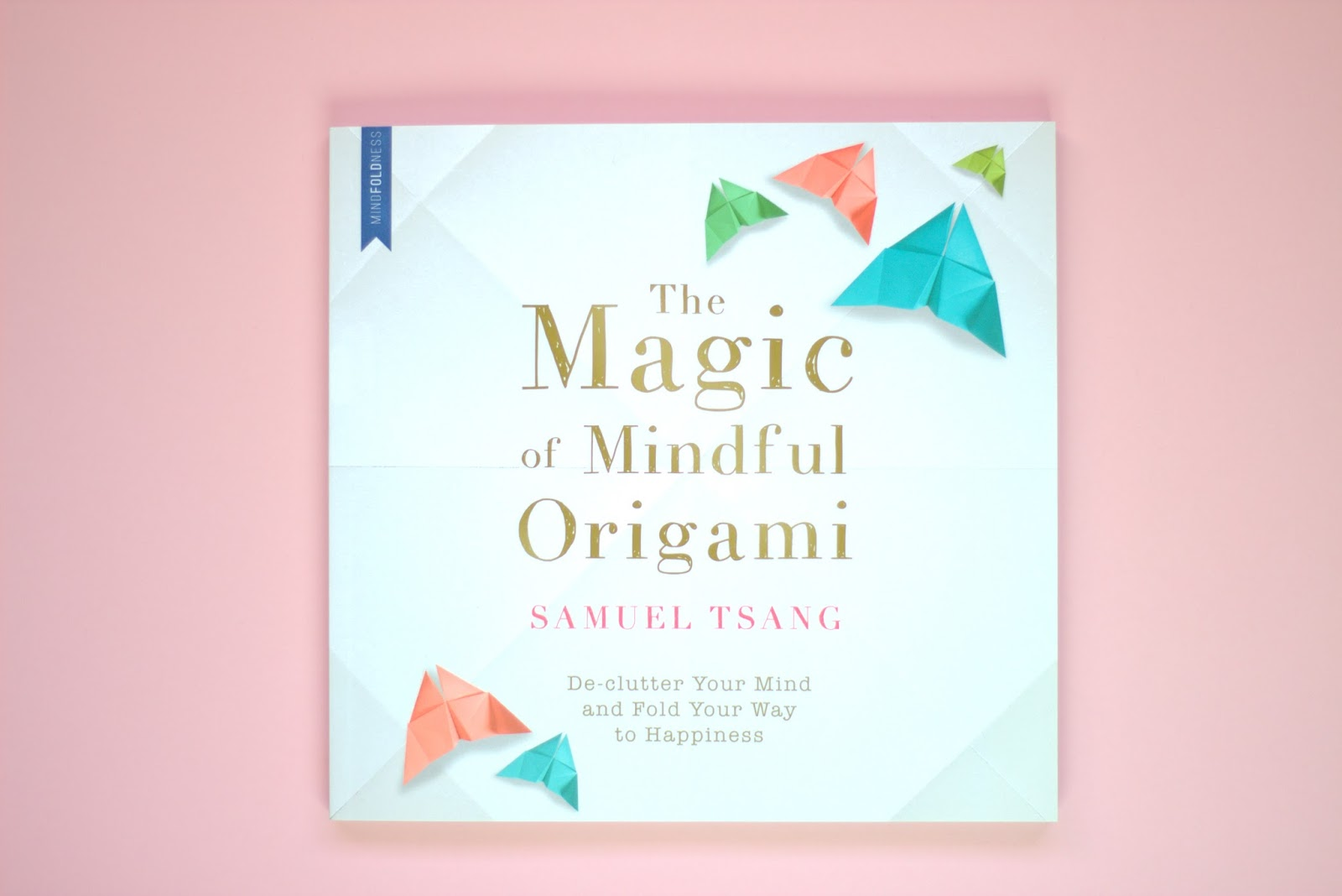 calm, mindfullness, origami book, wellness