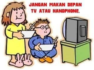 Makan Depan Phone atau TV mengemukan.