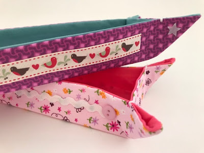 How to make some simple fabric pen trays tutorial