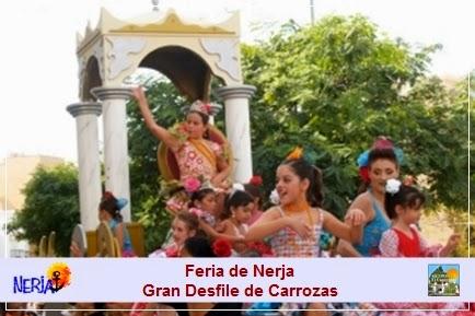 Gran Desfile de Carrozas LA CABALGATA en la Feria de Nerja