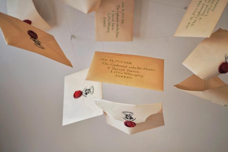 House of MinaLima à Londres : lettres de Poudlard