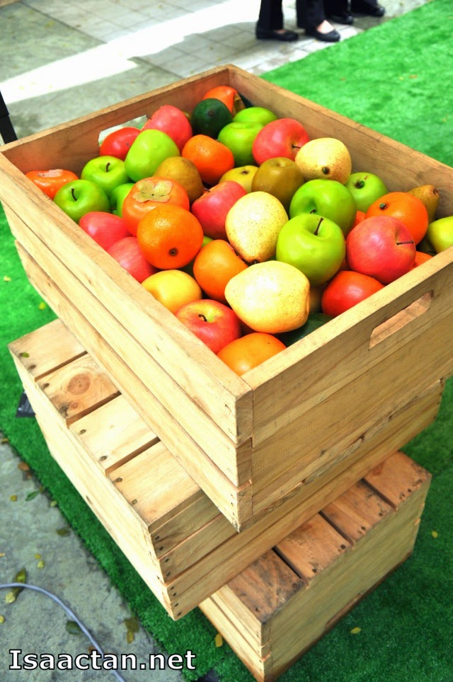 Fresh fruits by the crates