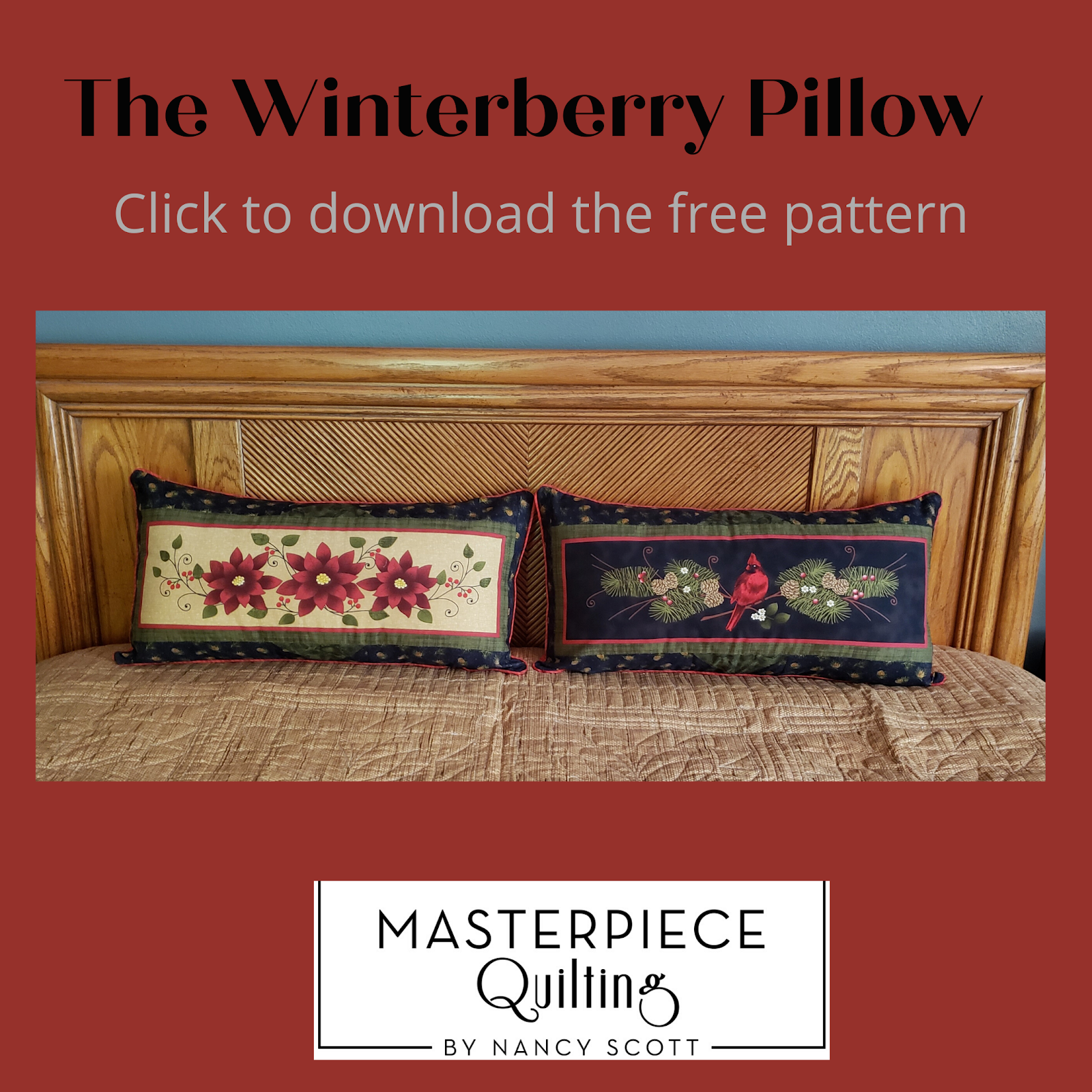 The Winterberry Pillow Free Pattern