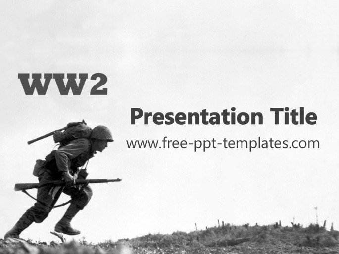 ww2 ppt template, Modern powerpoint