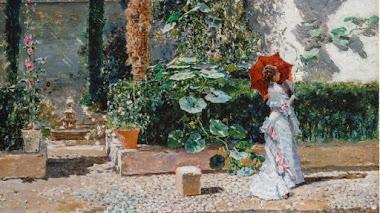 Jardín de la casa de Fortuny en Granada