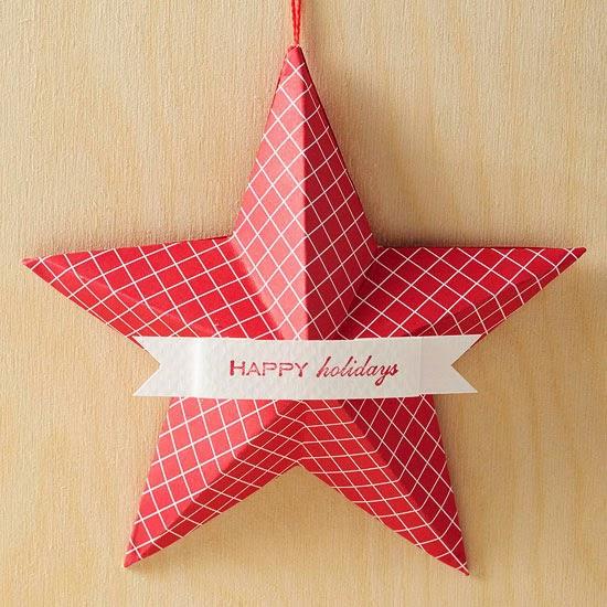 Homemade Christmas Star Ornament: Beautiful Handmade Christmas Ornaments