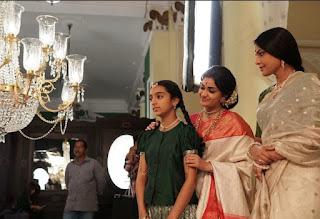 Keerthy Suresh in Saree in Mahanati Working Stills