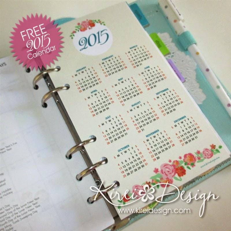 imprimible gratis calendario 2015