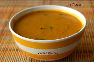Ulli Theeyal (Kerala Style) - Kerala Ulli Theeyal