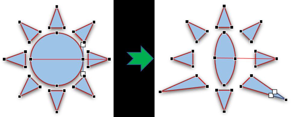 Mengubah Form Pada Bentuk yang dipilih 2