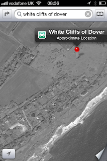 iOS6 Apple Maps Problems - Errors with Locations - WHite Cliffs of Dover