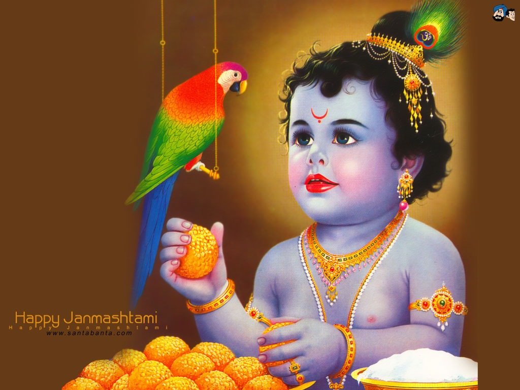 Indian Gods: Lord Sri Krishna Hd Wallpapers
