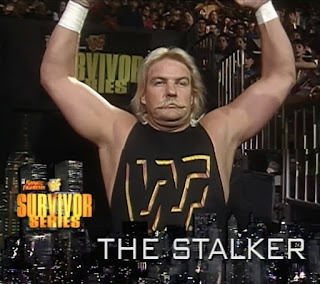WWF / WWE SURVIVOR SERIES 1996: Barry Windham as The Stalker - Great worker, dumb gimmick
