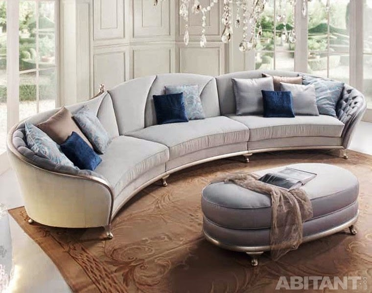 Round And Curved Sofa With Original Accent Furniture
