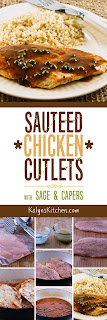 Sauteed Chicken Cutlets with Sage and Capers found on KalynsKitchen.com.