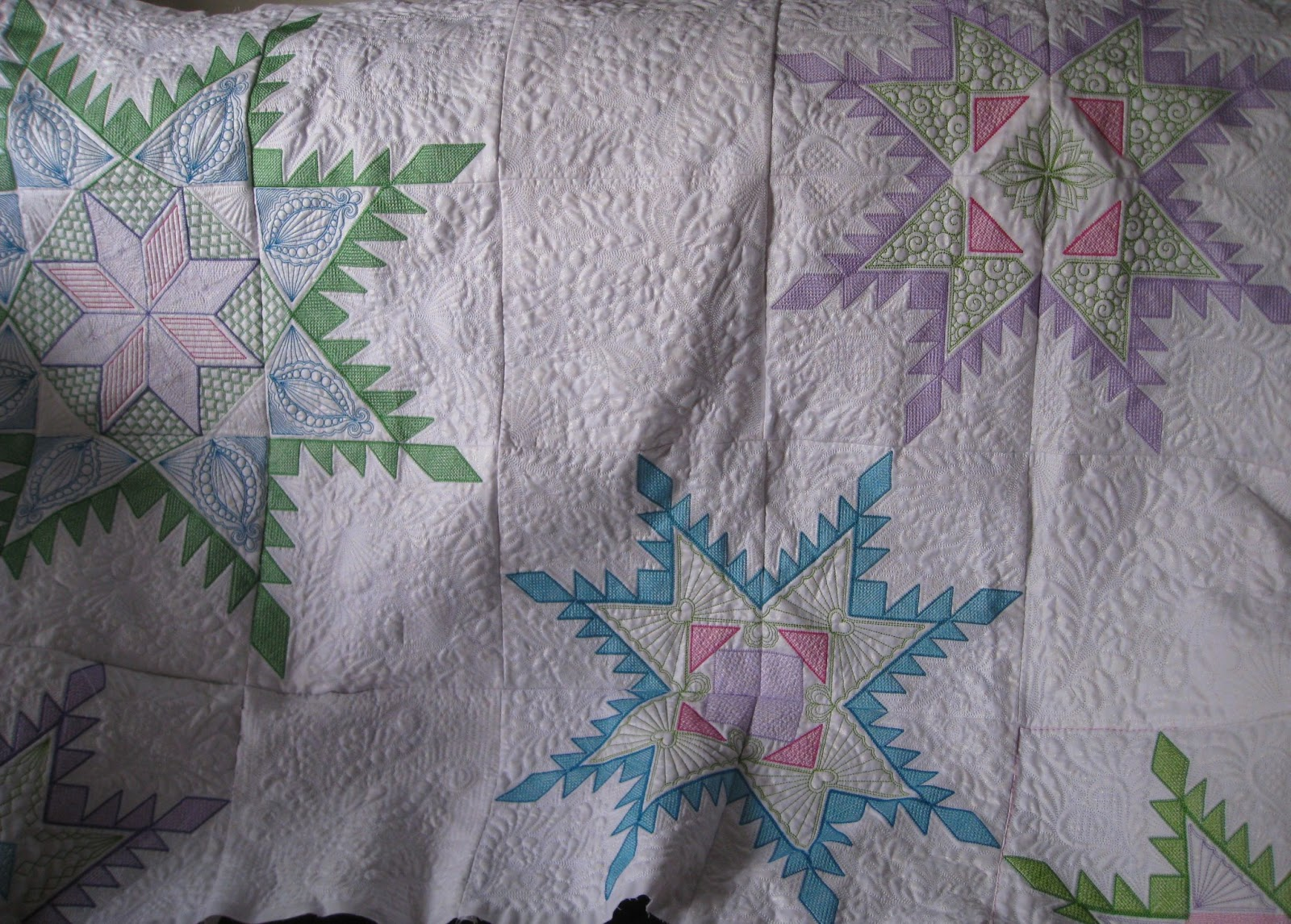 Vicki S Fabric Creations Crazy Quilt Block 26
