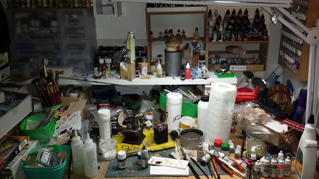 Very Well Organised And Personal Workspace Here Always Focused On The Painting Good Memories