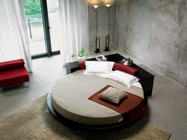 dormitorio decorado cama redonda