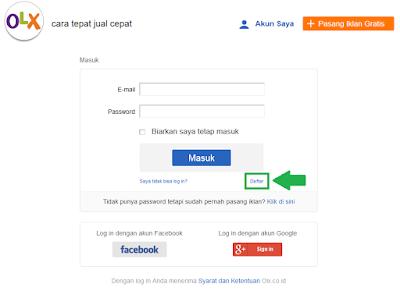 Cara Mendaftar dan Membuat Akun di OLX.co.id 2015