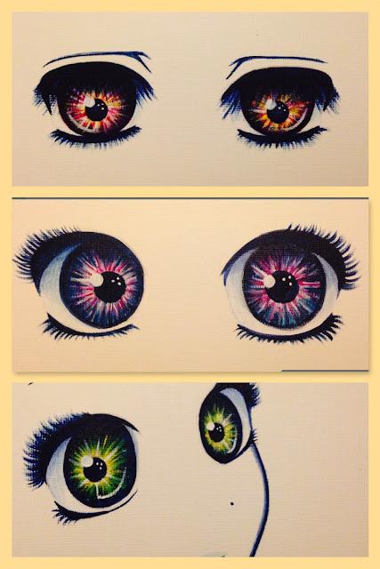 Anime eyes acrylic painting Anna Legaspi Art