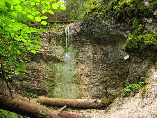 Wodospad Omszały (słow. Machový vodopád).
