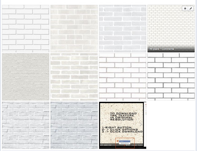 texture tileable white bricks #5