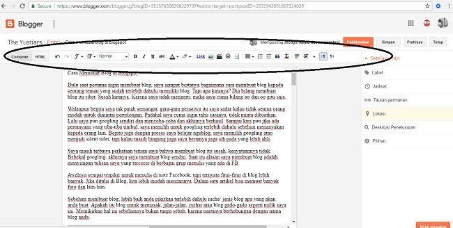 Cara membuat blog di blogspot lemaripojok