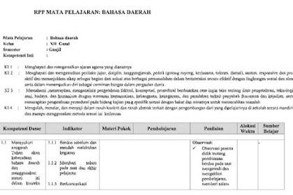 RPP Bahasa Jawa Kelas 10 Kurikulum 2013 Revisi