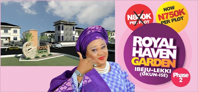 ROYAL HAVEN GARDEN PHASE 2, OKUN-ISE, IBEJU-LEKKI