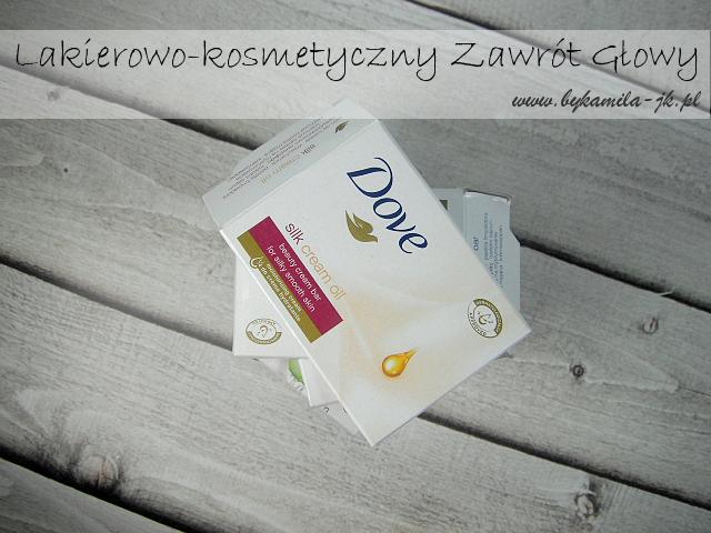 Mydło kostka myjąca Dove Silk Cream oil