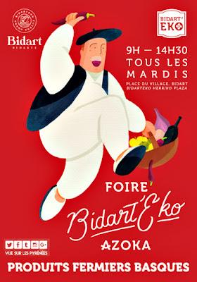 Bidart'Eko azoka Foire aux produits basques