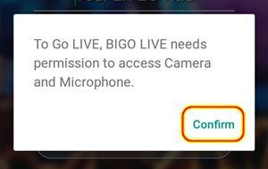 Cara menggunakan aplikasi Bigo Live Android untuk Live Broadcasting