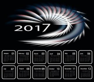 2017カレンダー無料テンプレート189