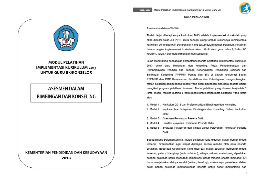 Modul Pelatihan Implementasi Kurikulum 2013-Assesmen Dalam Bimbingan dan Konseling