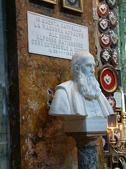 Busto do ebreo Ratisbonne, convertido e tornado sacerdote