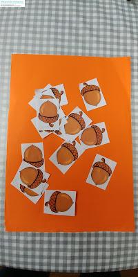 Glands à imprimer collage gommettes glands