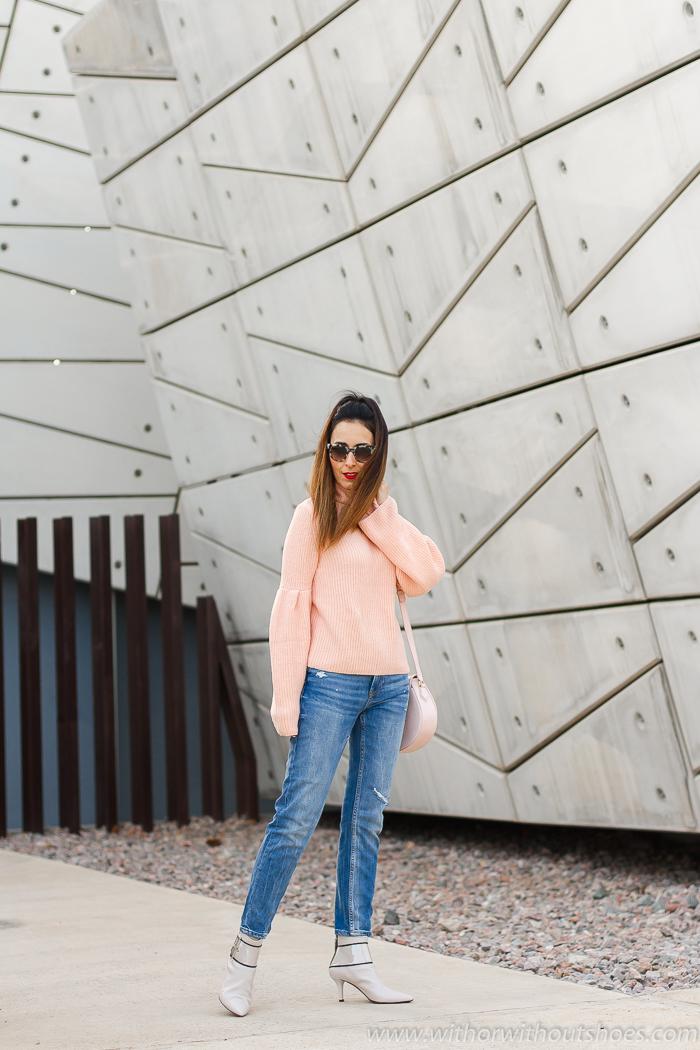 BLogger influencer valenciana con ideas para combinar jeans vaqueros cigarette slim boyfriend
