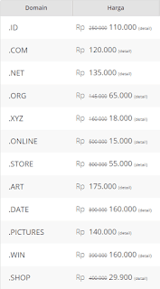 daftar harga domain berbayar