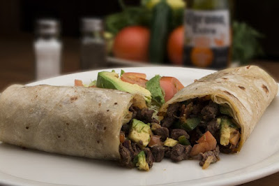 Steak and Avocado Burrito